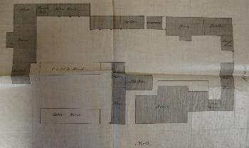 Plan of the farm buildings in 1858 [P10-2-1-10a]